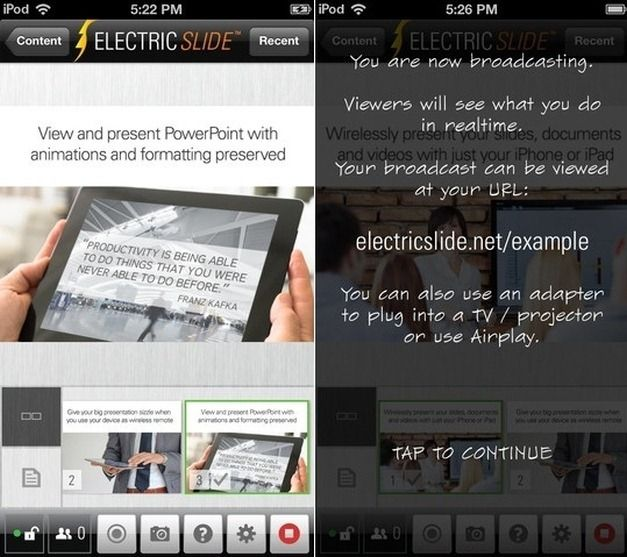 ElectricSlide Presentatios