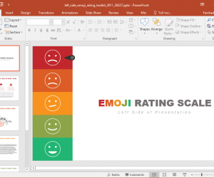 Animated Emoji Rating PowerPoint Template