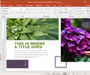 Animated Garden PowerPoint Template