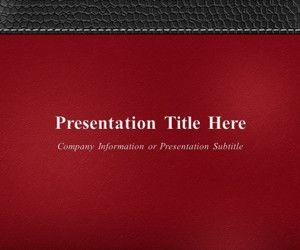 Executive Leather Red PowerPoint Template