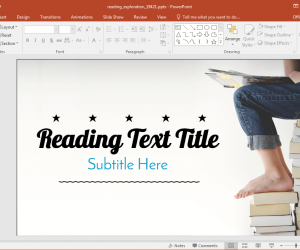 Animated Reading Exploration PowerPoint Template