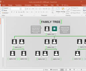 Animated Family Tree PowerPoint Template