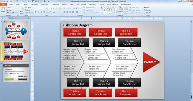 Free fishbone diagram template powerpoint ccuart Image collections
