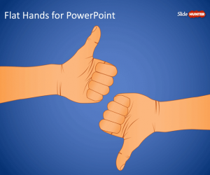 Flat Hands PowerPoint Template