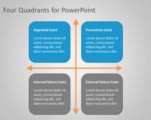 Four Quad Diagram for PowerPoint