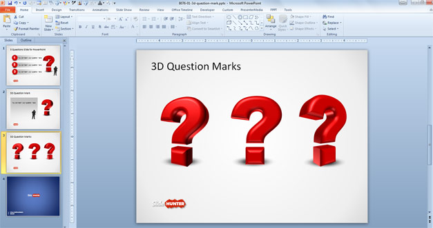 3D Question Mark PowerPoint