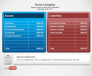 Balance Sheet PowerPoint Template
