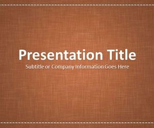 Linen Brown PowerPoint Template