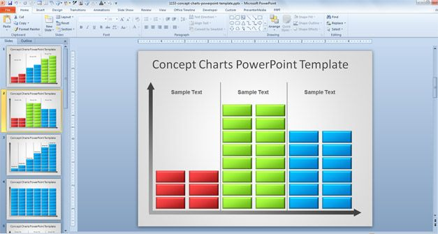 Sample Chart Templates free powerpoint charts and graphs templates : ... chart templates for PowerPoint like the free concept chart template