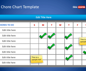 Chore Chart Template for PowerPoint