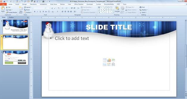 Internal slide design for Christmas PPT