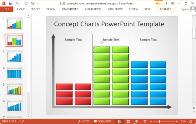 Sample Chart Templates free powerpoint charts and graphs templates : Go to Presenter Media - Charts And Graphs For PowerPoint