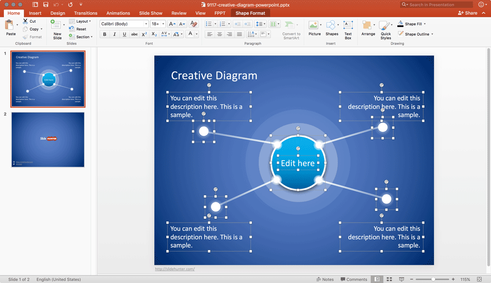 free-creative-diagram-powerpoint-template
