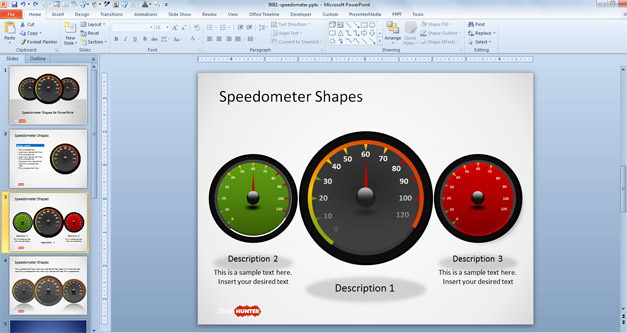 how to make a gauge in powerpoint