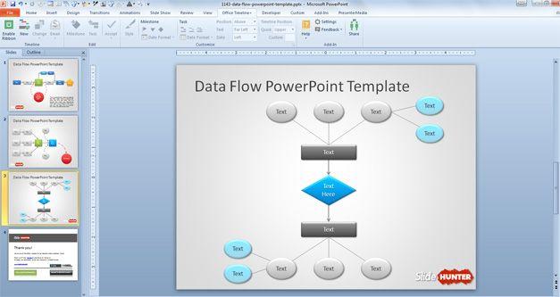 data flow powerpoint template