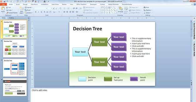 You can download this decision tree template containing three 7nO8DcT1
