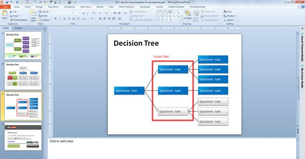 free decision tree ppt template example