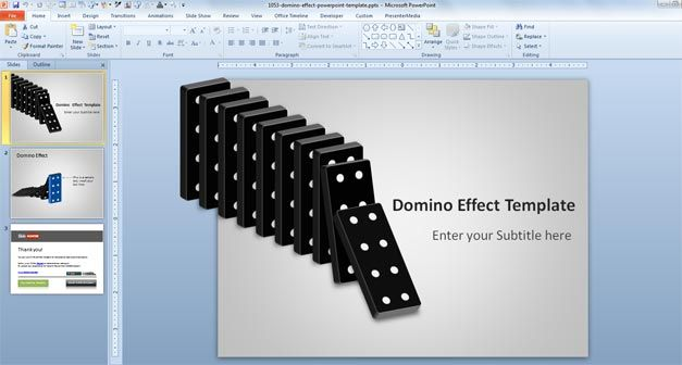 free domino powerpoint template