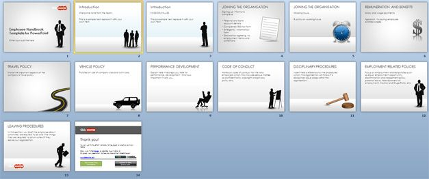 Free employee handbook template for powerpoint free for Employees handbook free template