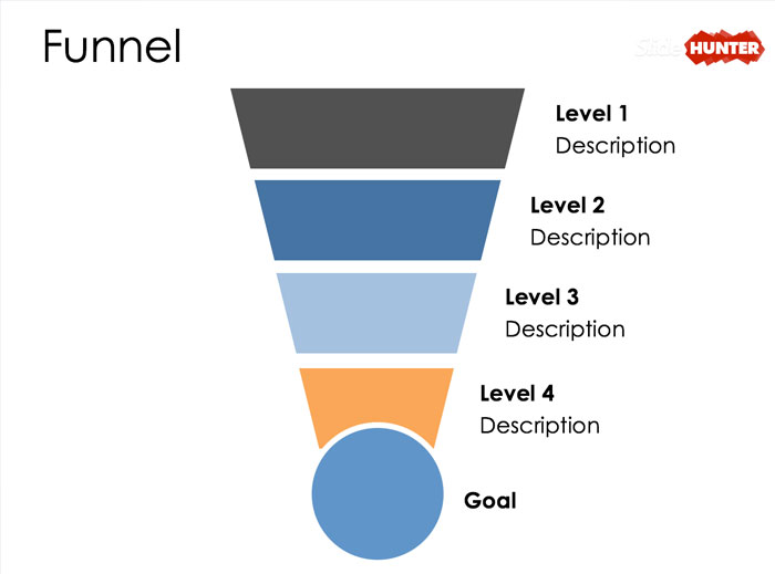 Free Funnel Diagram Design for PowerPoint