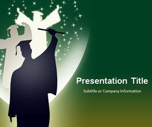 Plantilla PowerPoint de Graduación con Fondo Verde