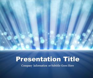 Light Rays Blue PowerPoint Template