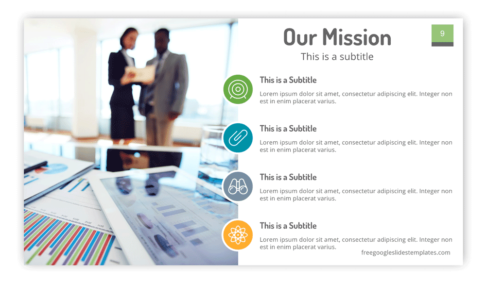 Free Mission Statement Slide Design
