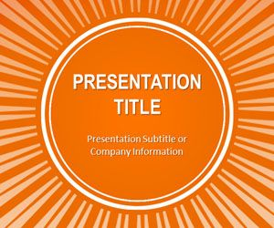 Orange Sunburst PowerPoint Template