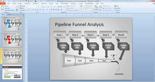 Free Pipeline diagram for PowerPoint