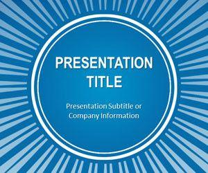 Blue Sunburst PowerPoint Template