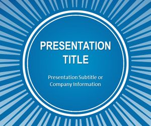 Blue Sunburst PowerPoint Template