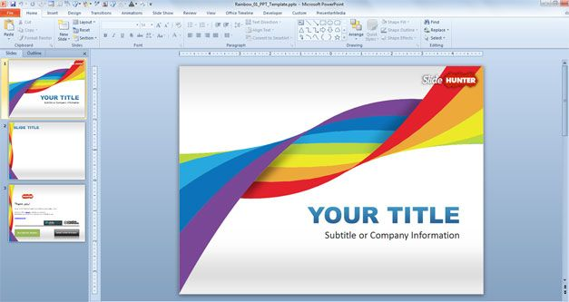 Rainbow DNA PowerPoint Template