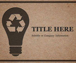 Recycle PowerPoint Template (Black)