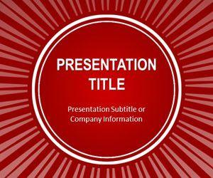 Red Sun Burst PowerPoint Template