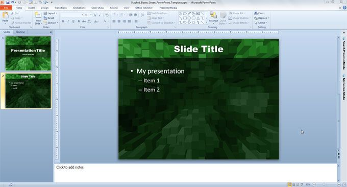 green free powerpoint template