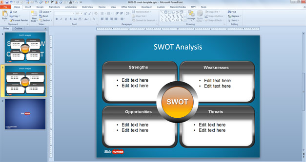 Free SWOT Analysis PowerPoint Slide Design