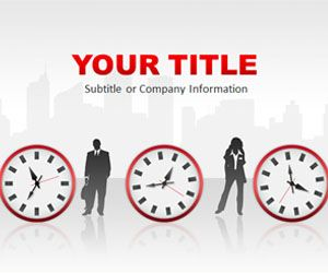 Time Management Red PowerPoint Template