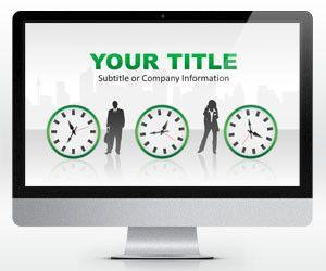 Time is Money PowerPoint Template Widescreen (16:9)