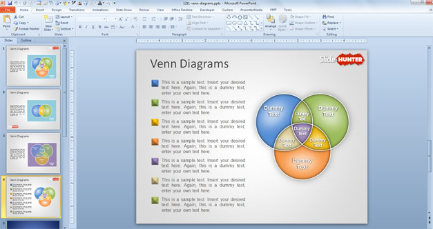 Free Venn Diagram PPT template