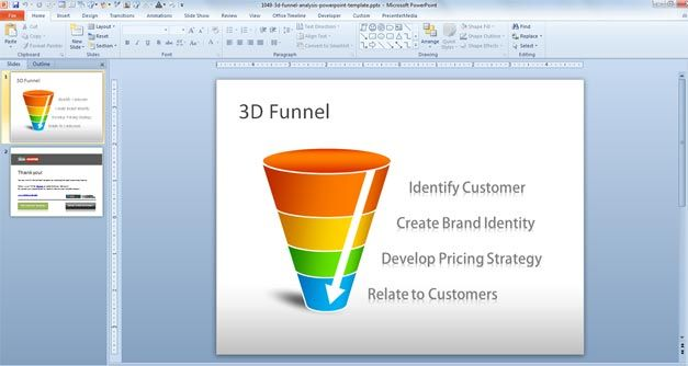 funnel analysis powerpoint template 3d free