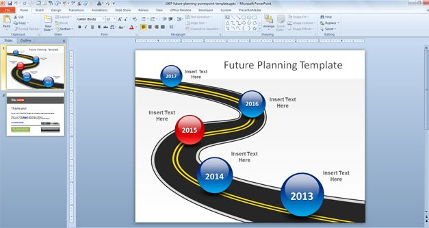 Future plans PowerPoint template