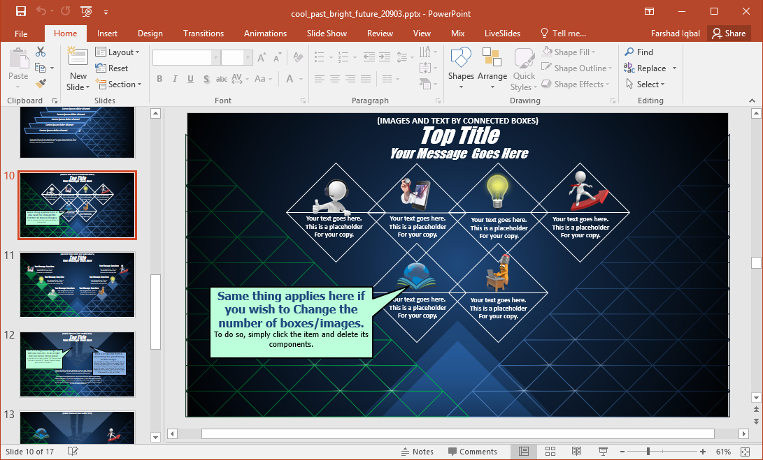 futuristic powerpoint template