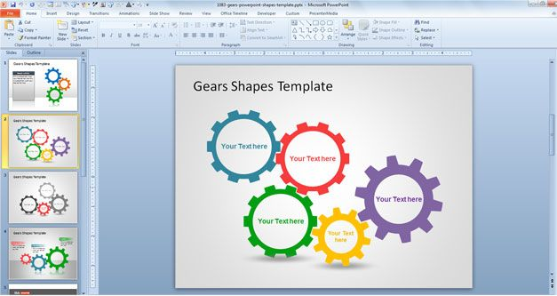 Gears PowerPoint Shapes download