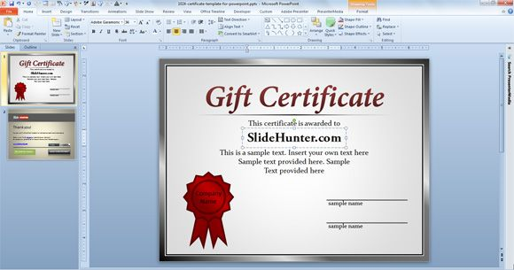 Powerpoint Award Template from slidehunter.com