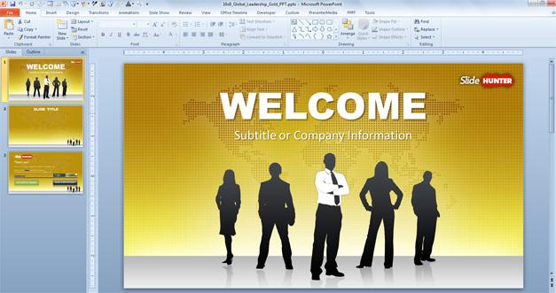 Free global leadership PowerPoint template