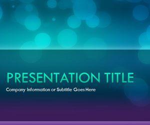 Glow Night PowerPoint Template
