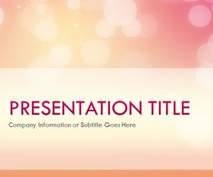 Glow Afternoon PowerPoint Template