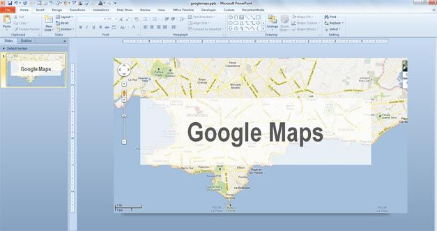 google maps powerpoint