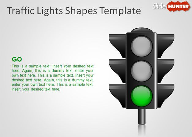 free powerpoint template green lights