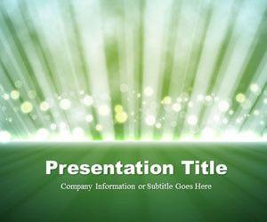 Light Rays Green PowerPoint Template